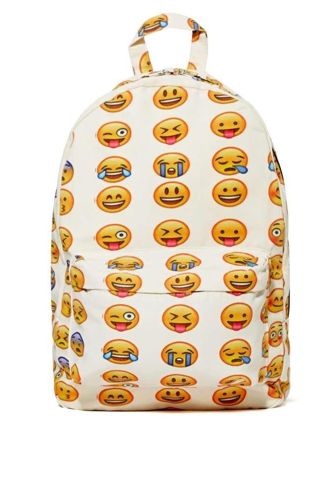 la mejor actitud 7fda0 af3b7 Emoji-nal Backpack | Shop What's New at Nasty Gal | Fun ...