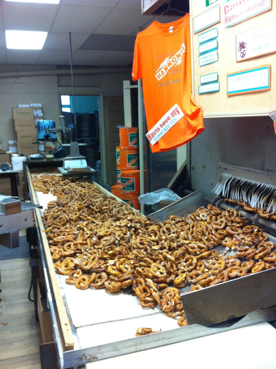 Hammond Pretzel Factory The Oldest Family Operated Hand Made Pretzel Bakery In America Opened In Lancaster County Amish Lancaster County Pa Lancaster County
