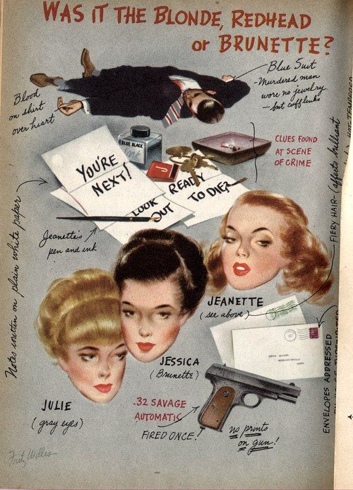 A Problem in Murder, 1947, by Craig Rice with a wonderful