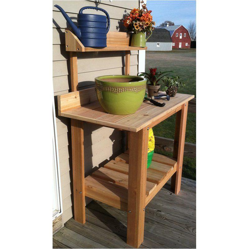 Infinite Cedar Premium Potting Table Potting Table Benches For Sale Potting Bench