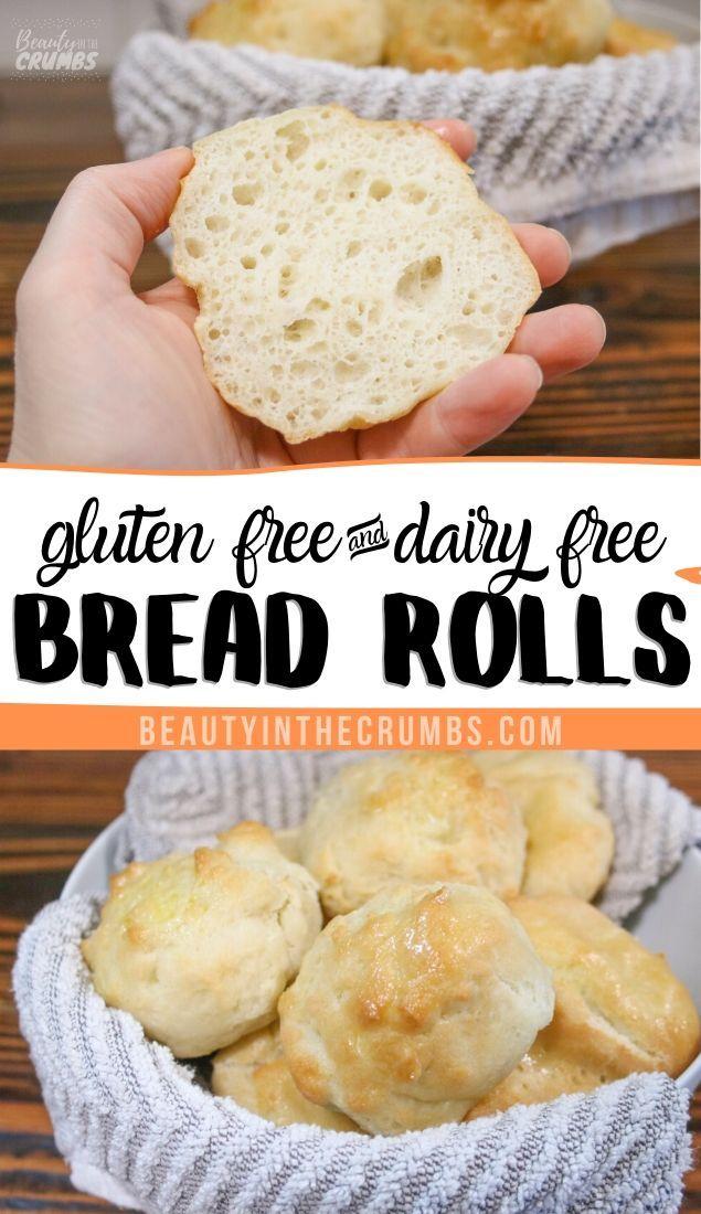 Fluffy Gluten Free Rolls Recipe Dairy Free Bread Good Gluten Free Bread Recipe Best Gluten Free Recipes