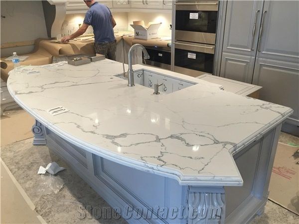 Calacatta nuvo caesarstone kitchen google search for Cost of caesarstone countertops