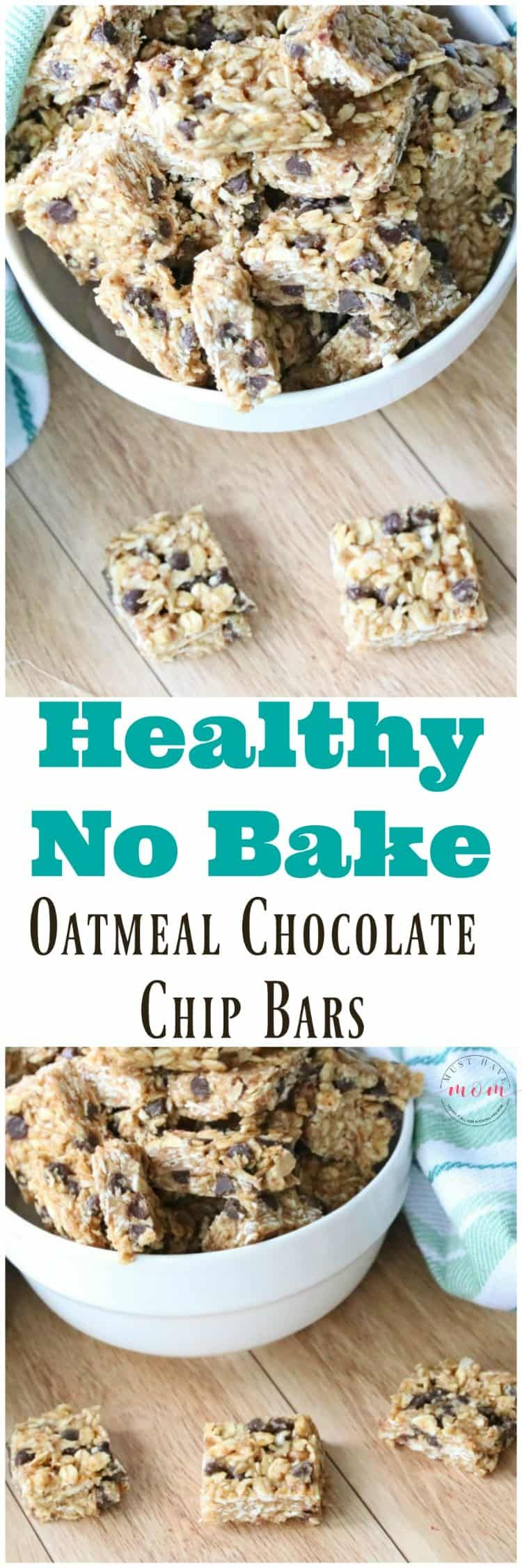 Photo of Healthy Oatmeal Chocolate Chip No Bake Bars