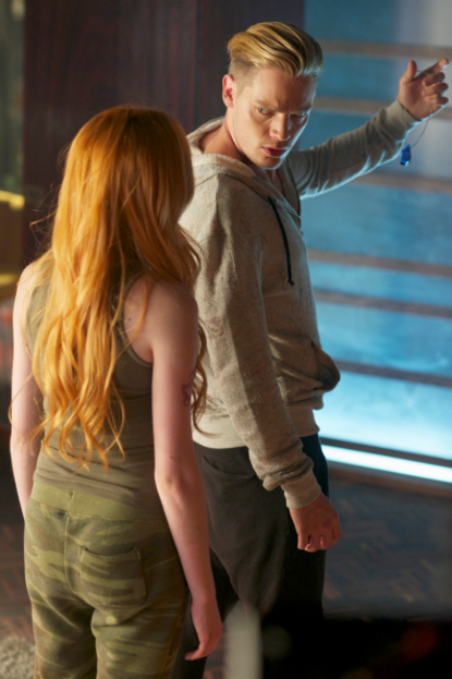 Jace and Clary in Moo shu to go,