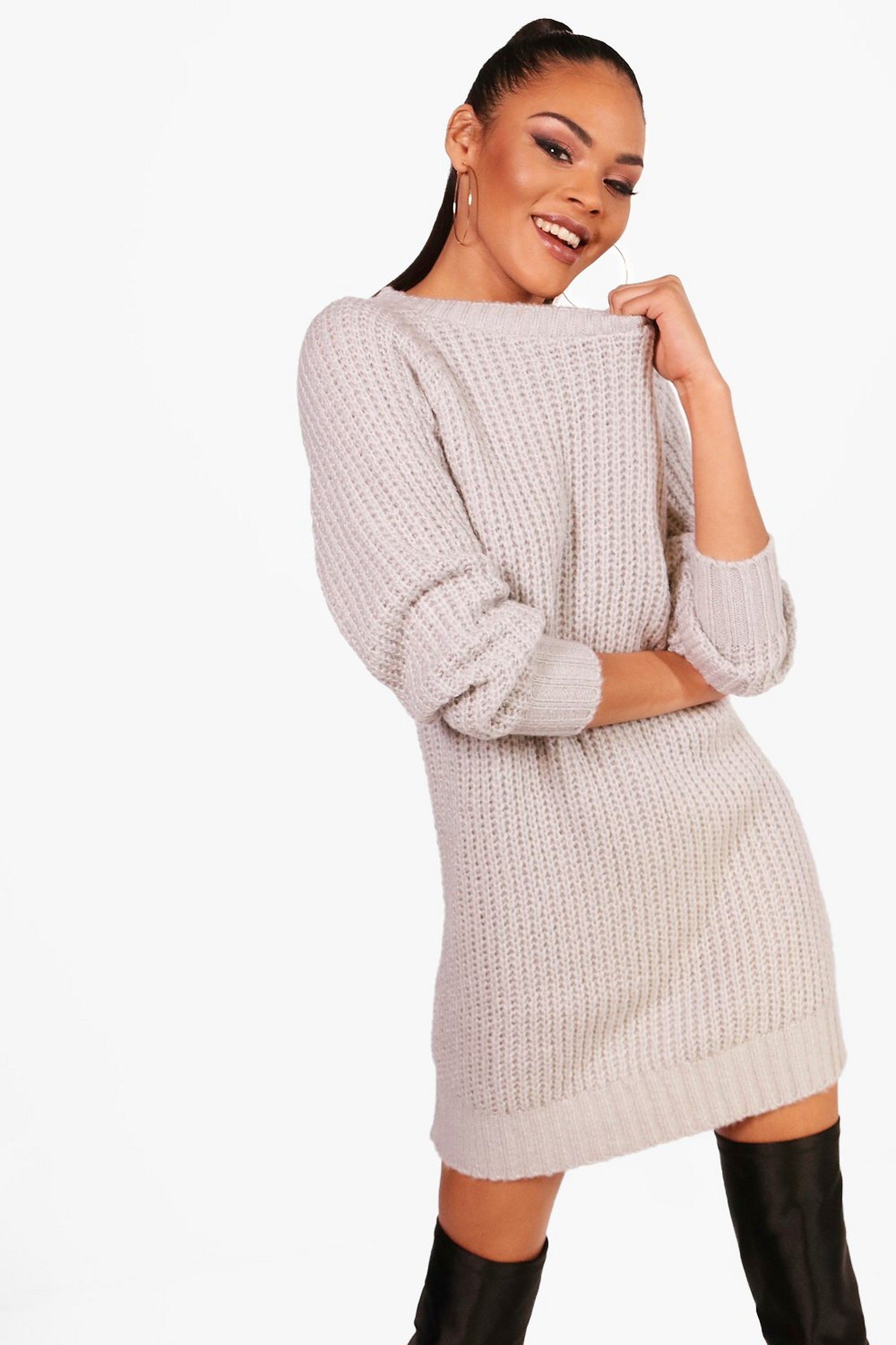 search for newest top-rated good looking Soft Knit Sweater Dress | Boohoo | On Fleek! in 2019 | Knit ...