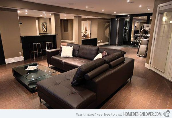 Basement Living Room Designs Cool 15 Modern And Contemporary Living Room Basement Designs 2018