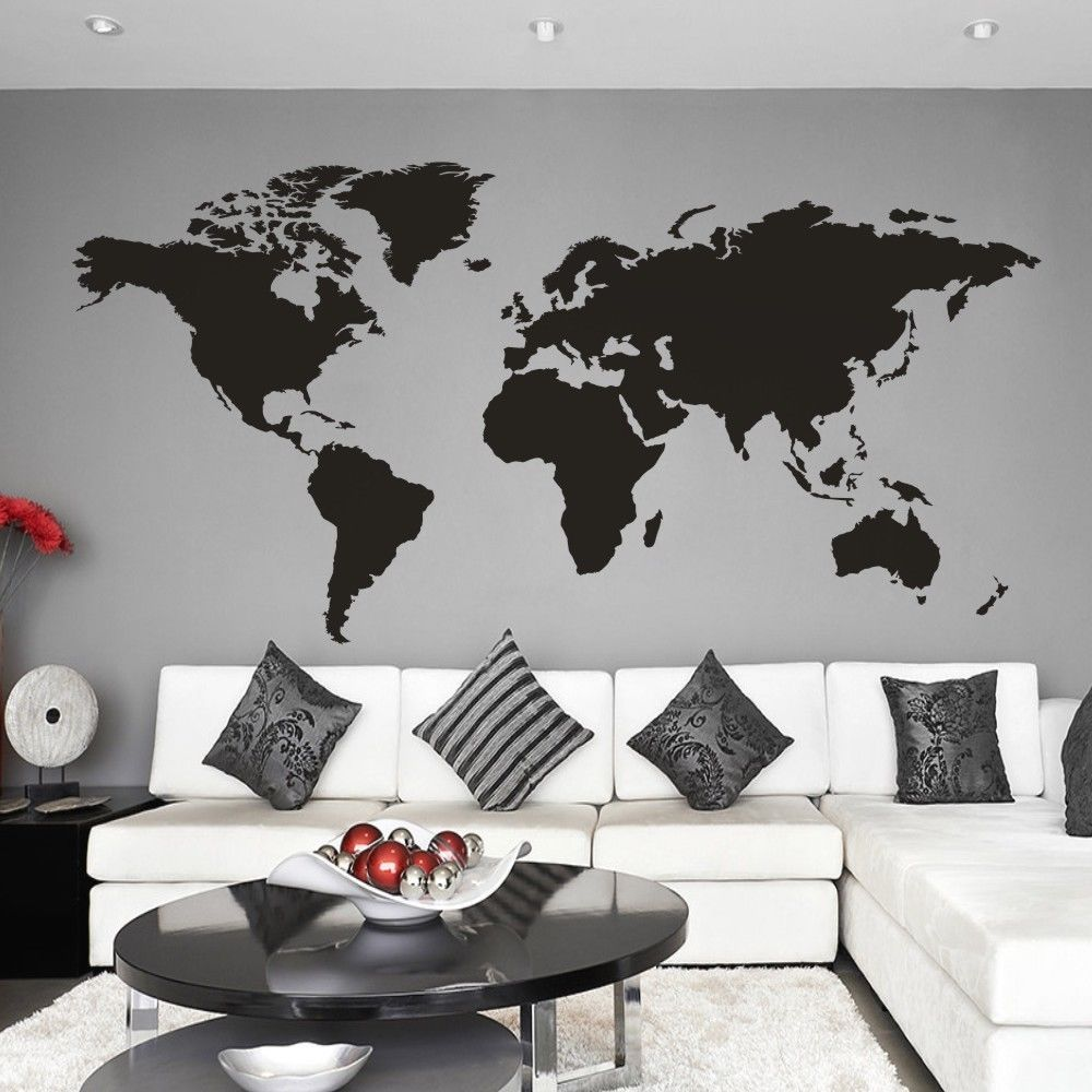 World map wall decal big global vinyl office inspiration room mural world map wall decal big global vinyl office inspiration home mural decor large gumiabroncs Images
