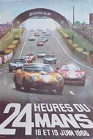 1966 Le Mans Vintage Racing Poster Le Mans Racing Posters