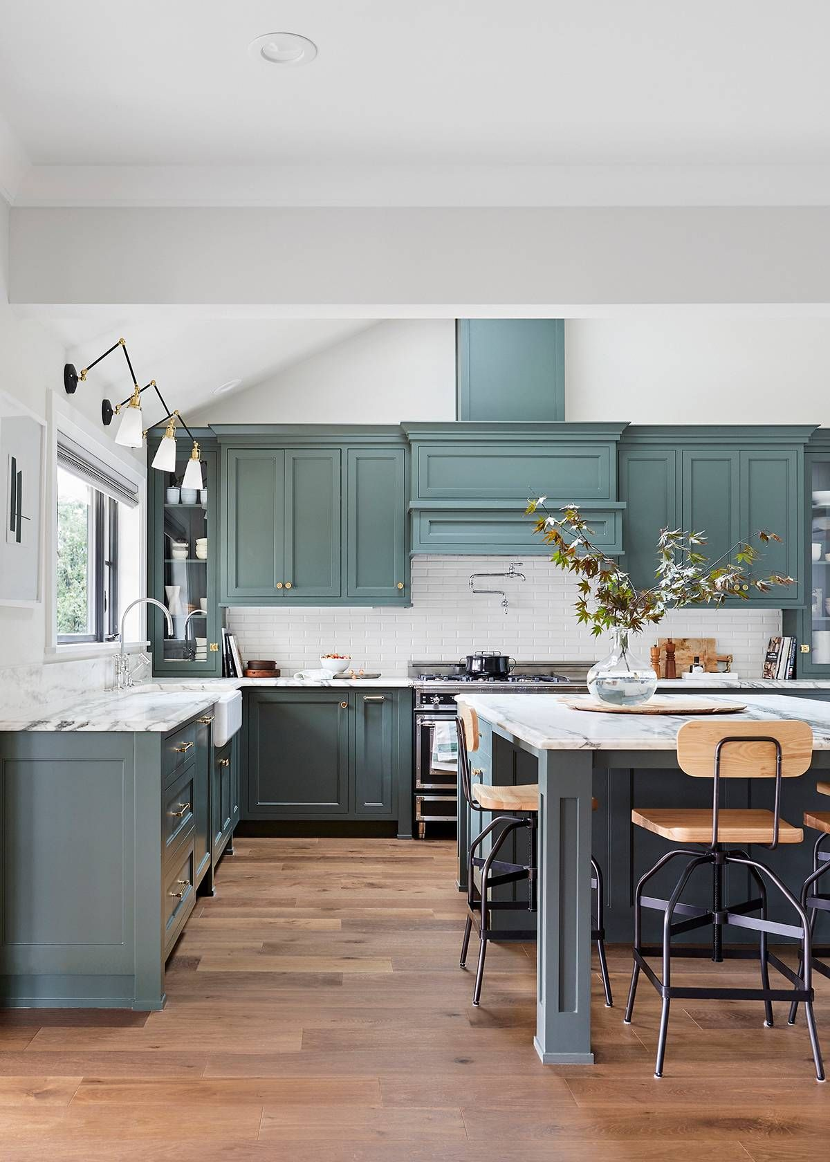 Youull be seeing this shade of green in every kitchen come in