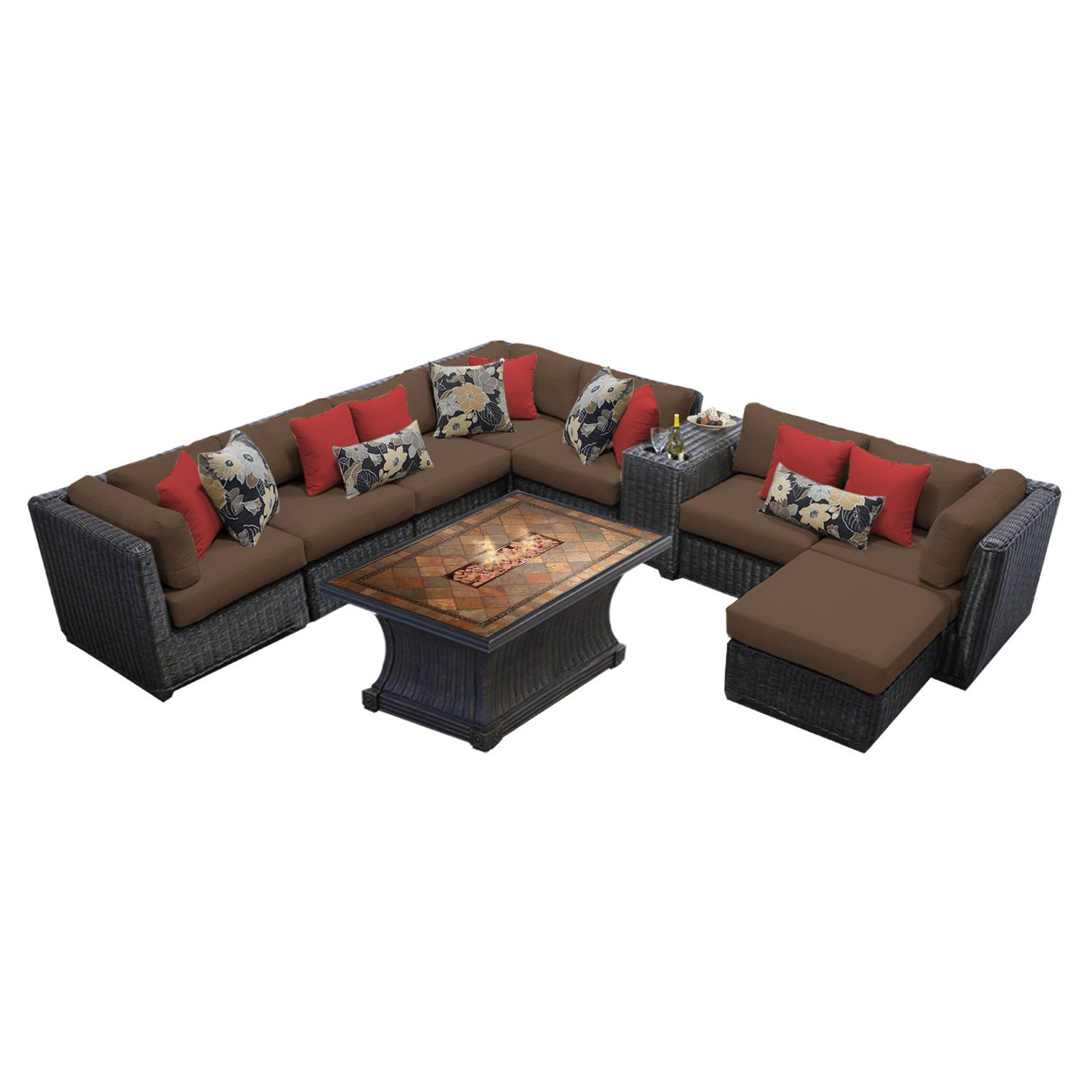 Admirable Tk Classics Venice 10 Piece Outdoor Sectional Set With Uwap Interior Chair Design Uwaporg