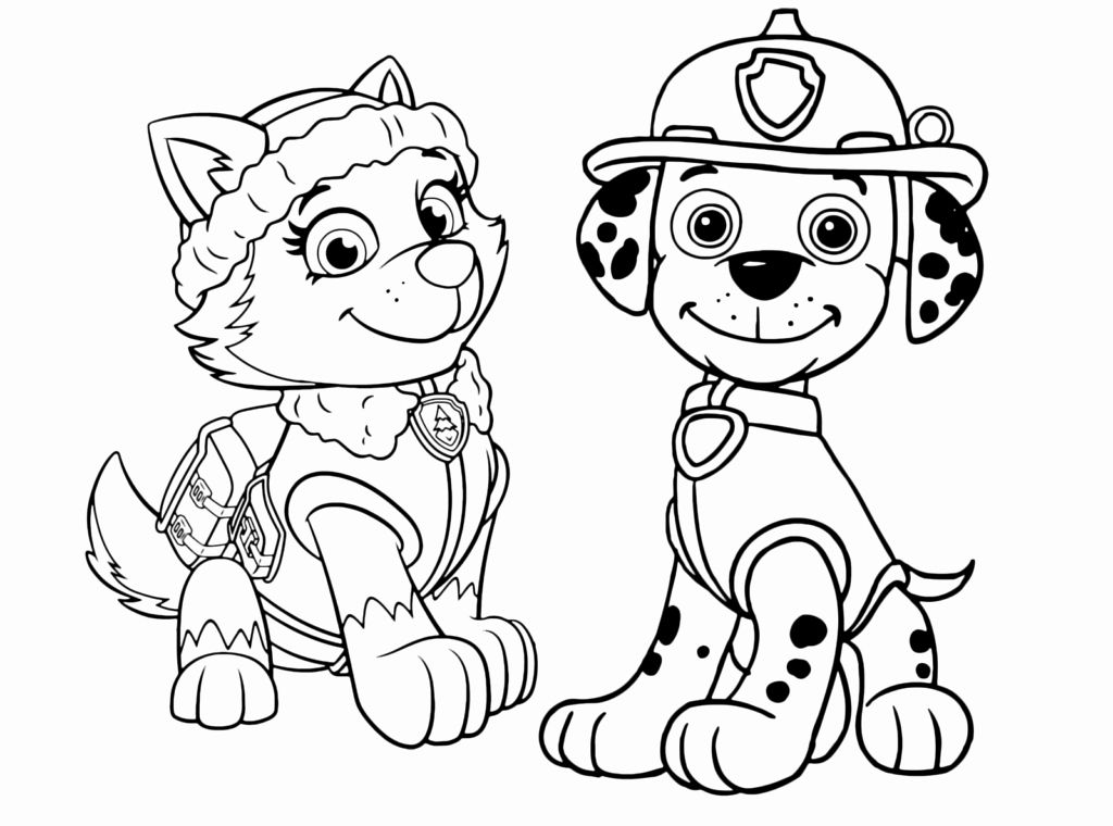 Paw Patrol Everest Coloring Page Elegant Paw Patrol Coloring Pages