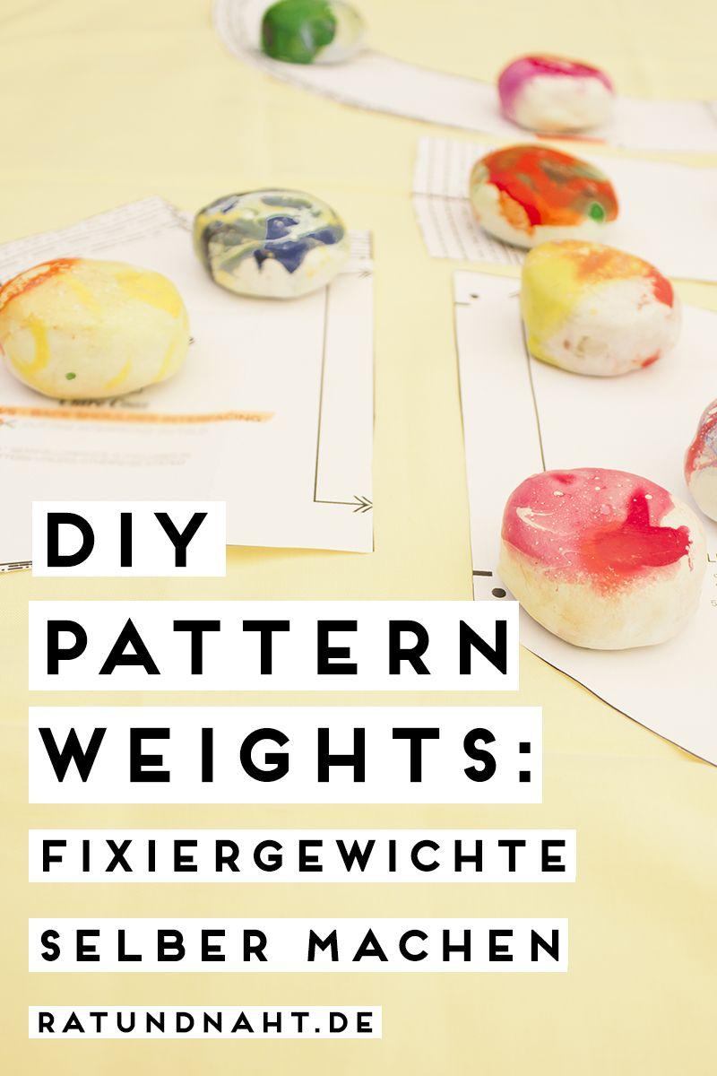 DIY Patternweights: Fixiergewichte selber machen   Nähen ...