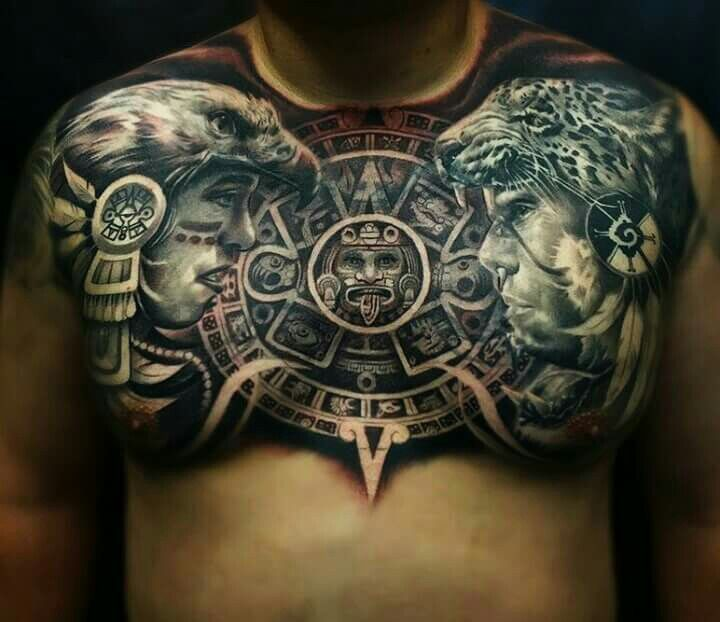 Azteca tattoo aztec tattoos aztlan being mexican for Aztec lion tattoo meaning