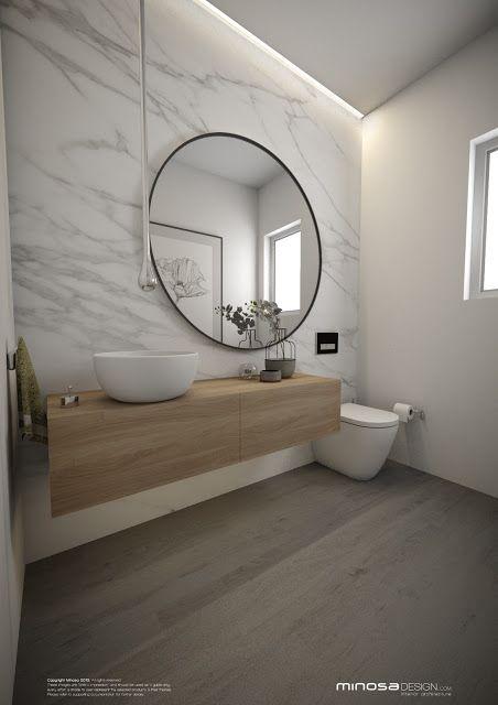 Badezimmer Konzept Mit Kompletter Wand Im Marmor Carrara Look. Dies Kann  Man Mit Ariostea Ultra Marmi Umsetzen. #Badezimmer #Fliesen