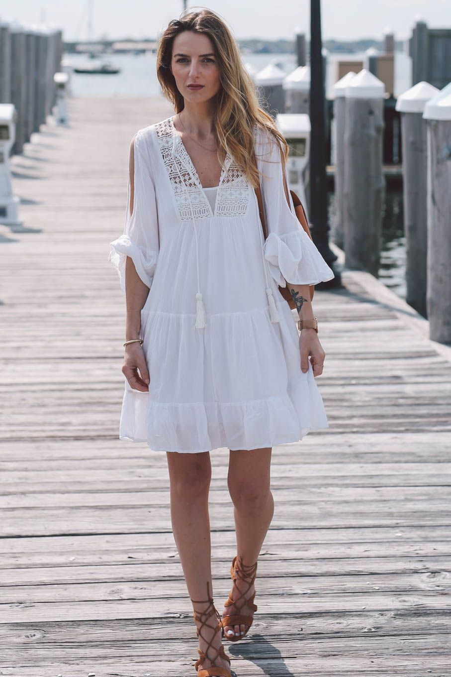 Clearance Online Fake Cheap From China Castaway Lace Tunic Dress - Summer white French Connection Sale For Cheap Free Shipping Official Outlet Browse P977sIQI
