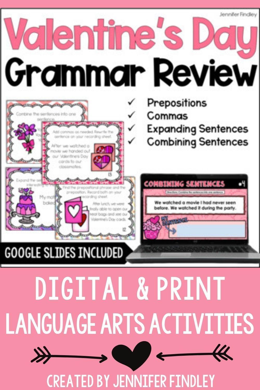 Valentine S Day Grammar Review Activities In 2021 Grammar Task Cards Grammar Activities Grammar Review Activities [ 1500 x 1000 Pixel ]