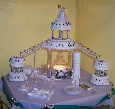 Old Fashioned Tier And Fountain And Stairs Wedding Cakes Pictures - Wedding Cake Steps