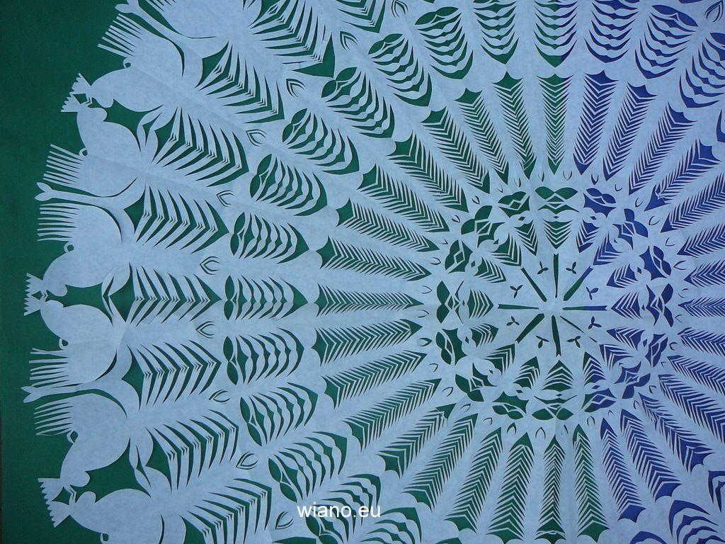Wycinanka ludowa, gwiazda kurpiowska śred. 108 cm (czk-2)