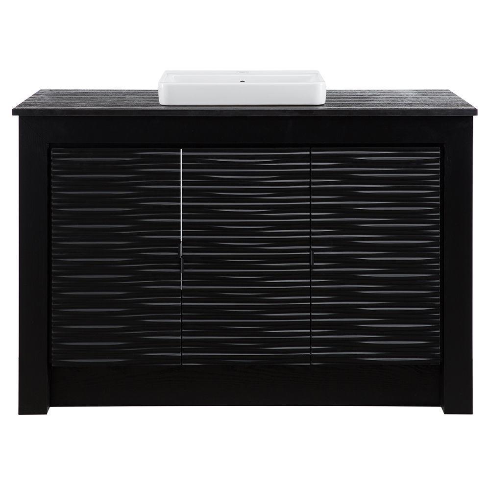 Schon Zuvitria 49 Invanity In Black With Granite Vanity Top In Entrancing White Bathroom Vanity Home Depot Decorating Design