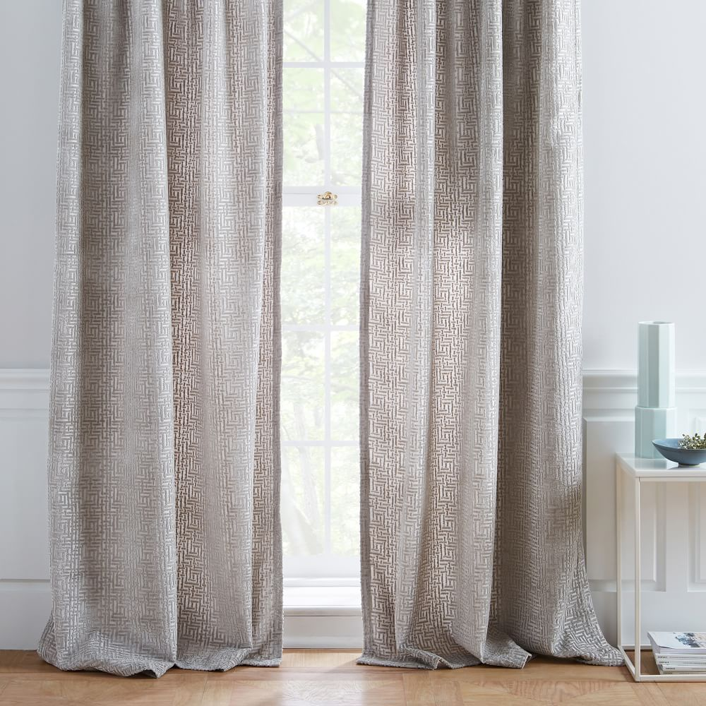 Allover Crosshatch Velvet Jacquard Curtain With Images Cool