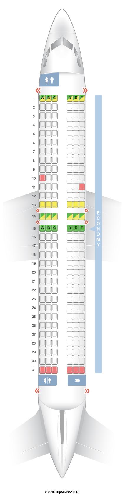 SeatGuru Seat Map Norwegian Air Shuttle Boeing 737-800 (738