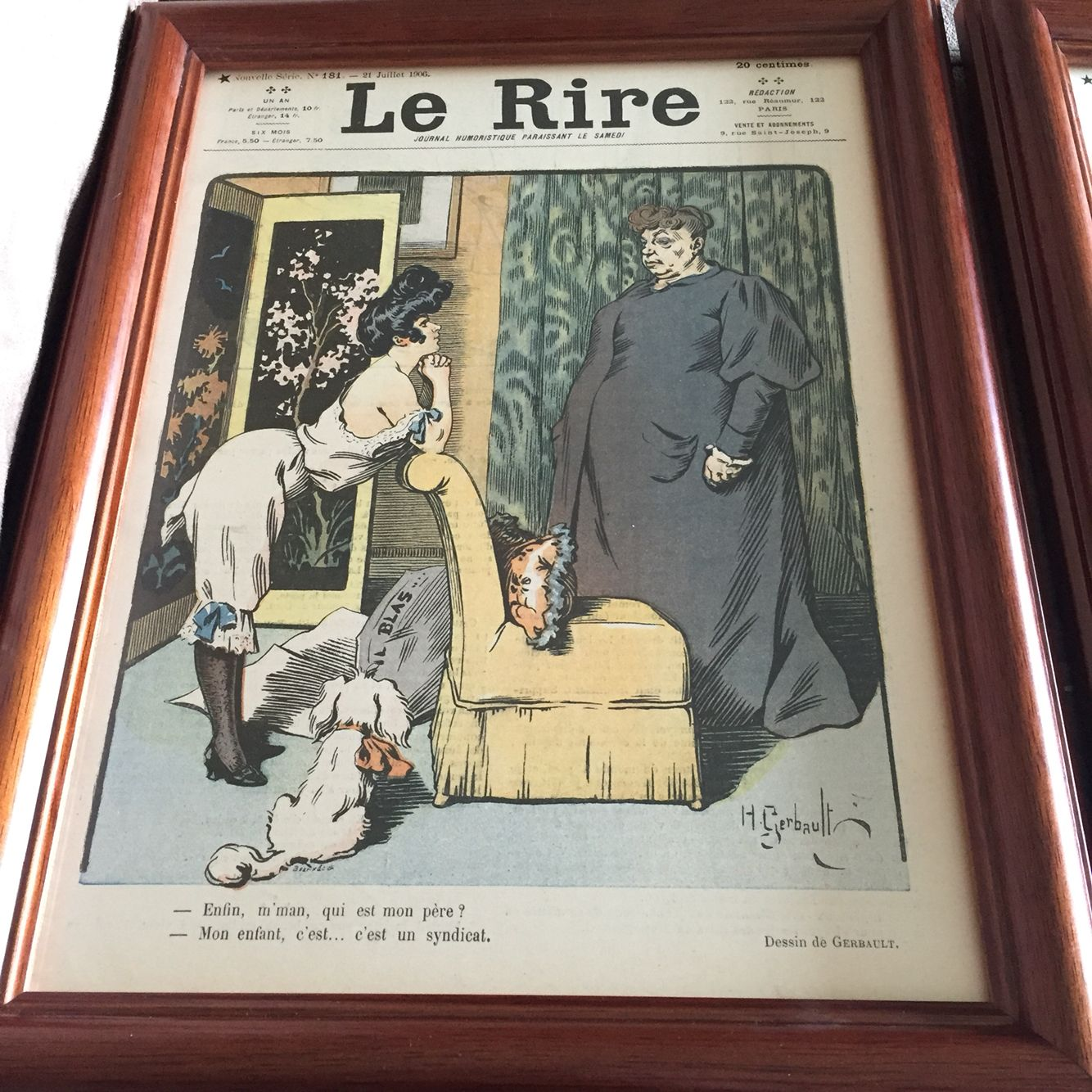 French Prints I Had Framed From 1906