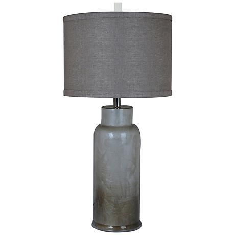 Crestview Collection Rossi Cylindrical Brown Table Lamp