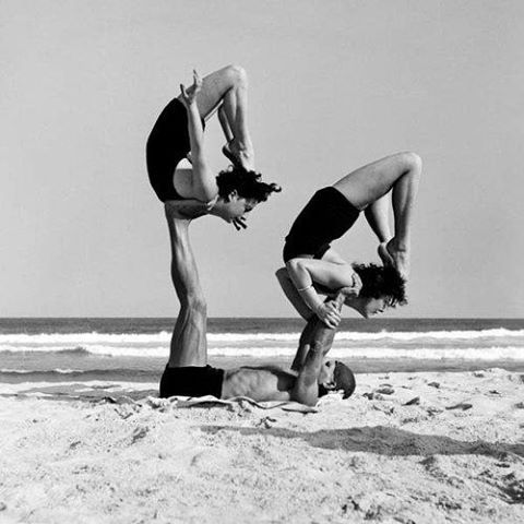pindanielle abisaab on all things yoga vintage  acro