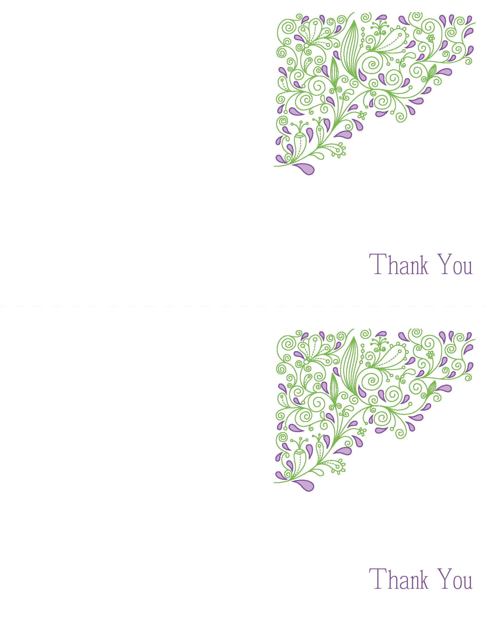 Thank You Cards. Printable Wedding Invitations Paisley Elise Suite ...