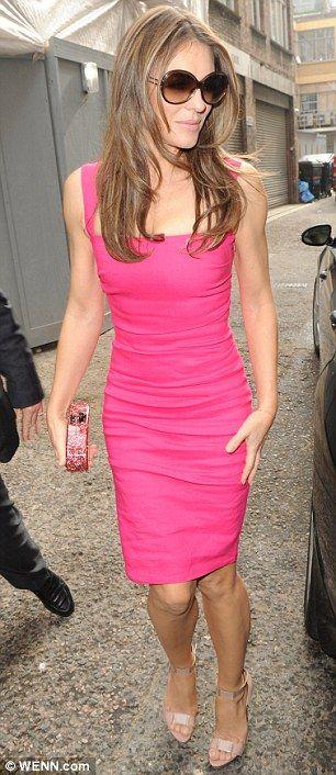 Elizabeth Hurley + pink dress   #ElizabethHurley #CoolSummer #SummerWinter #celebrity  #pink
