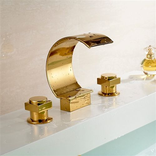fancy polished brass faucet