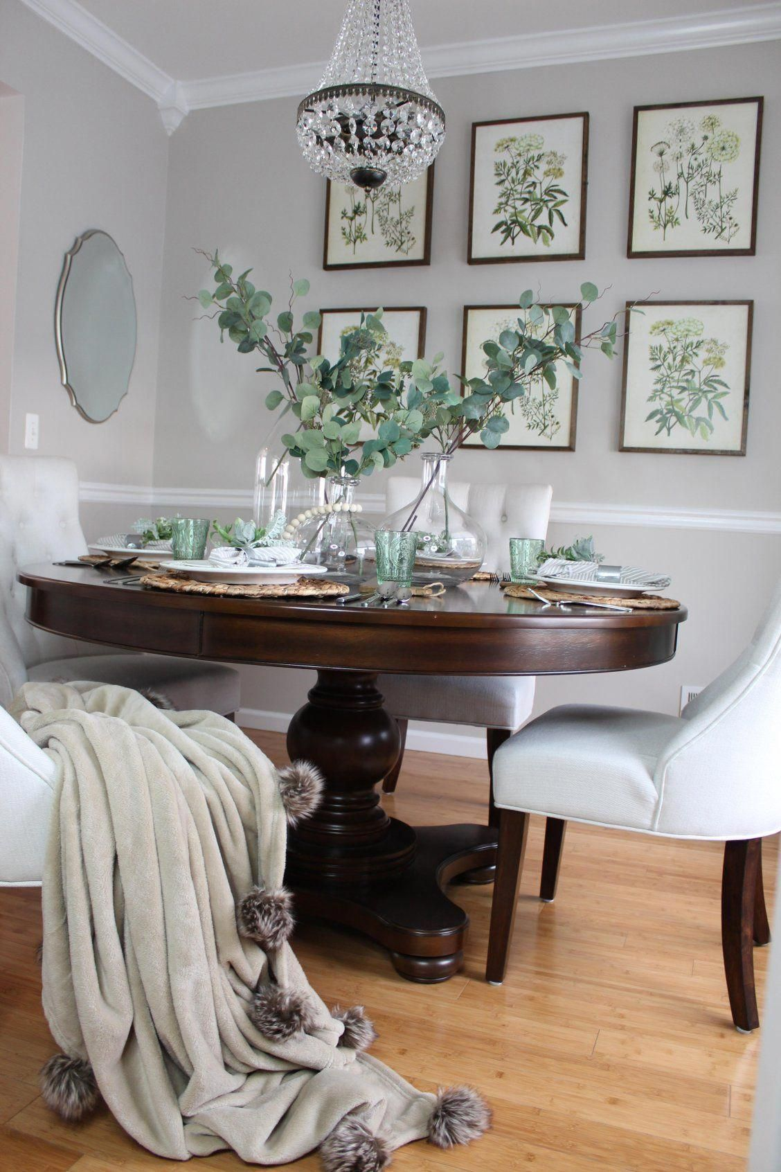 41+ Dark wood round dining table and chairs Inspiration