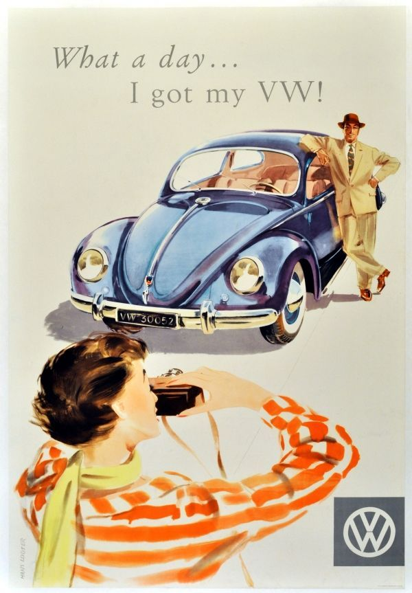 Nice Volkswagen 2017 Original Vintage Posters Advertising What A Day I Got My Vw S