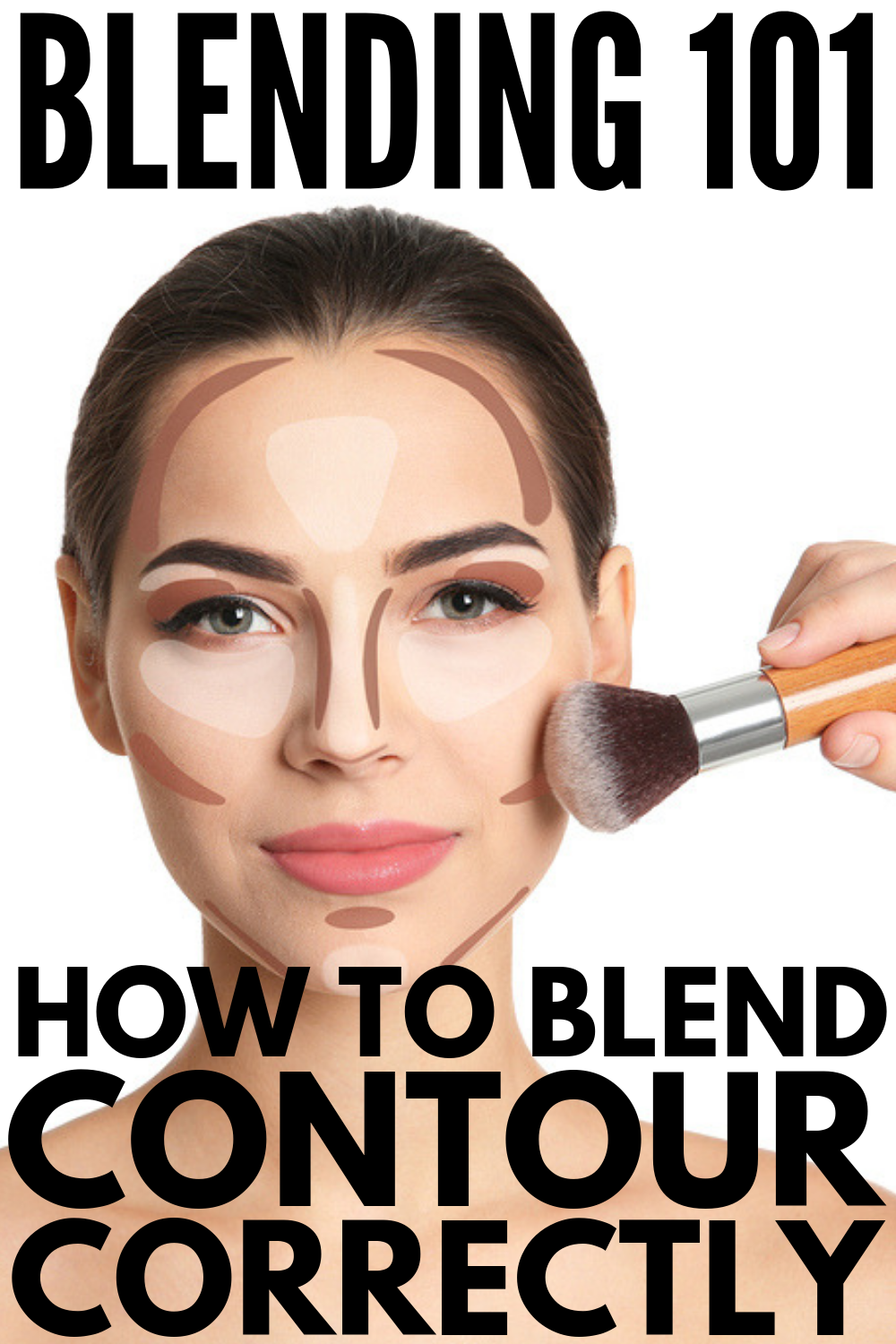 How to Blend Contour: 9 Tips and Products | If you're looking for step by step tips and tutorials to teach you how to blend contouring like a pro, this post is for you! Whether you prefer to work with brushes or a sponge, a contour stick or powder, have a round or square face, we'll teach you how to use contour and highlight for a sculpted look you'll love! #howtocontour #contourmakeup #contour #contouring