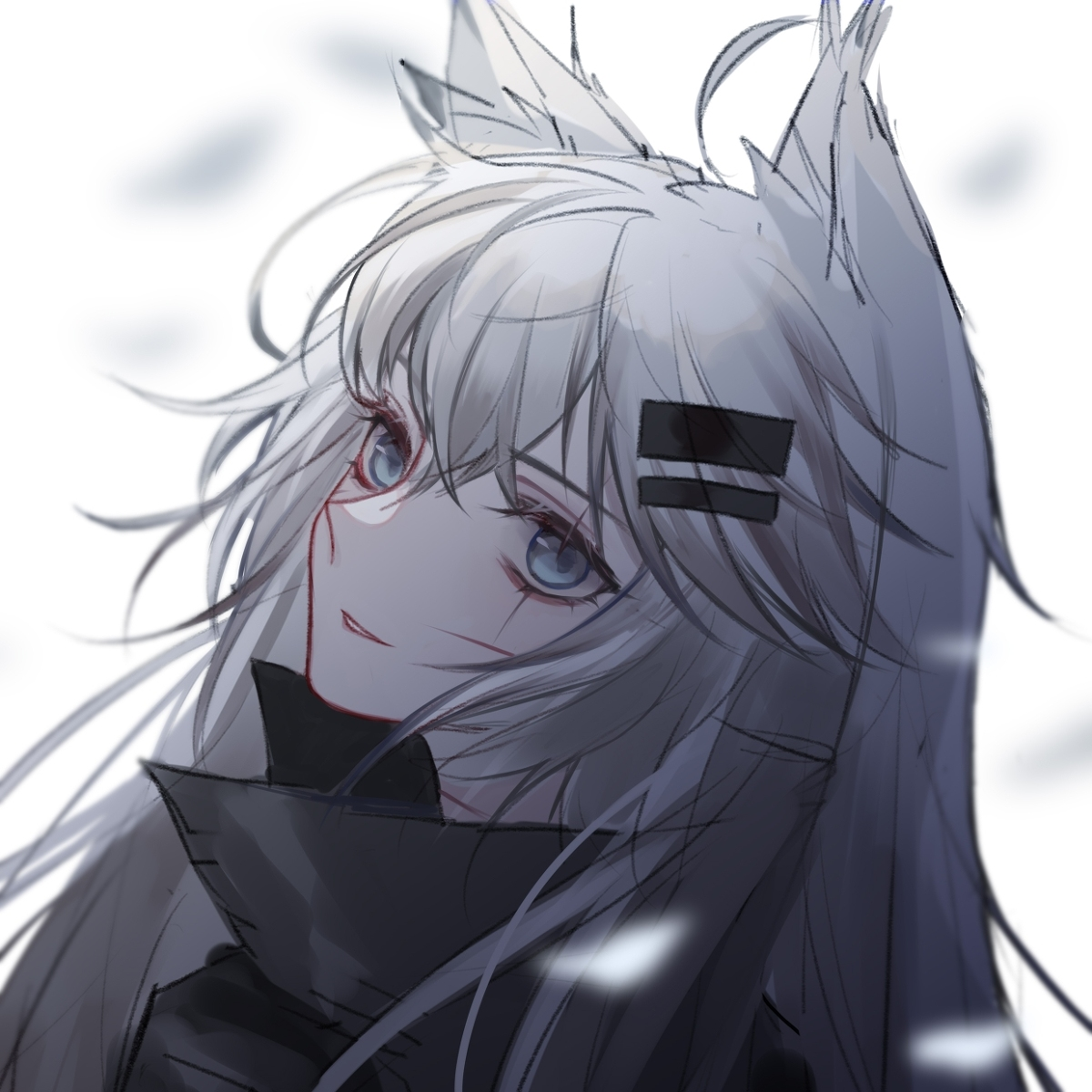 Pin By Kevin Henrique On Lappland Arknights In 2020 Anime Wolf Girl Anime Neko Anime Wolf