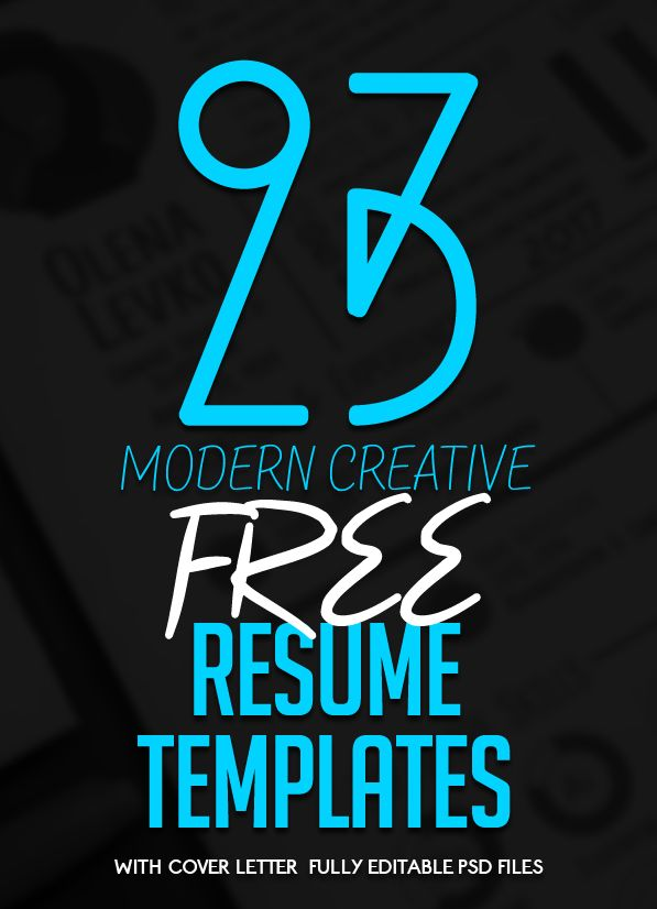 23 Free Creative Resume Templates with Cover Letter #freebie - free resume cover letters