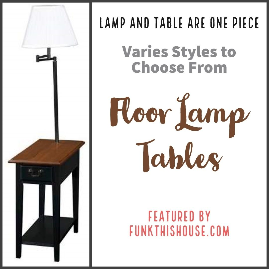 Table floor lamps provide an excellent space saving