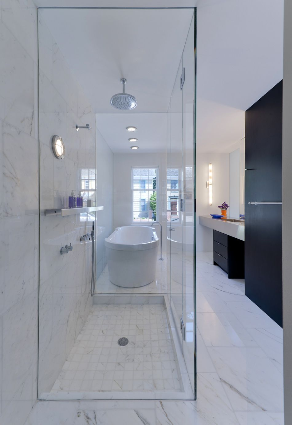 Wood Inspiration Restored Historic Home By Robert M Gurney - Galley style bathroom