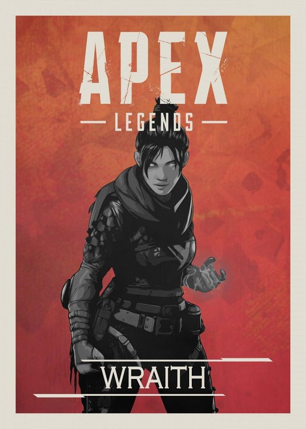 Apex Legends B&W Border Characters Displate Posters