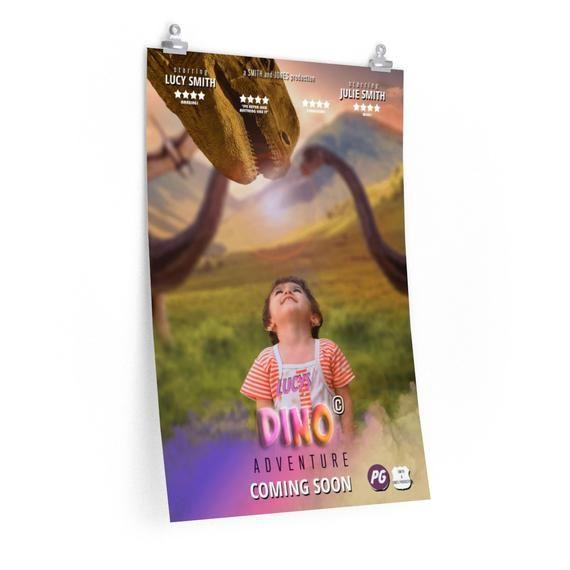 Custom Movie Print, Dinosaur Jurrassic, Film Poster, Cinema Poster, Custom Gift, Premium Matte vertical posters #filmposterdesign