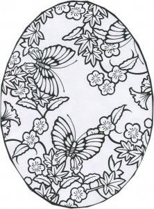 Butterfly Easter design outline to make this Spring