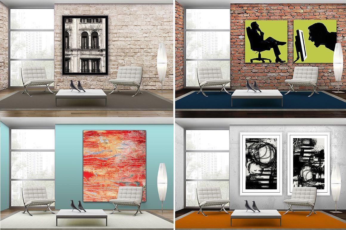 Art Mockup Scene - Sitting Area by Robin Faye Gates Art on @creativemarket