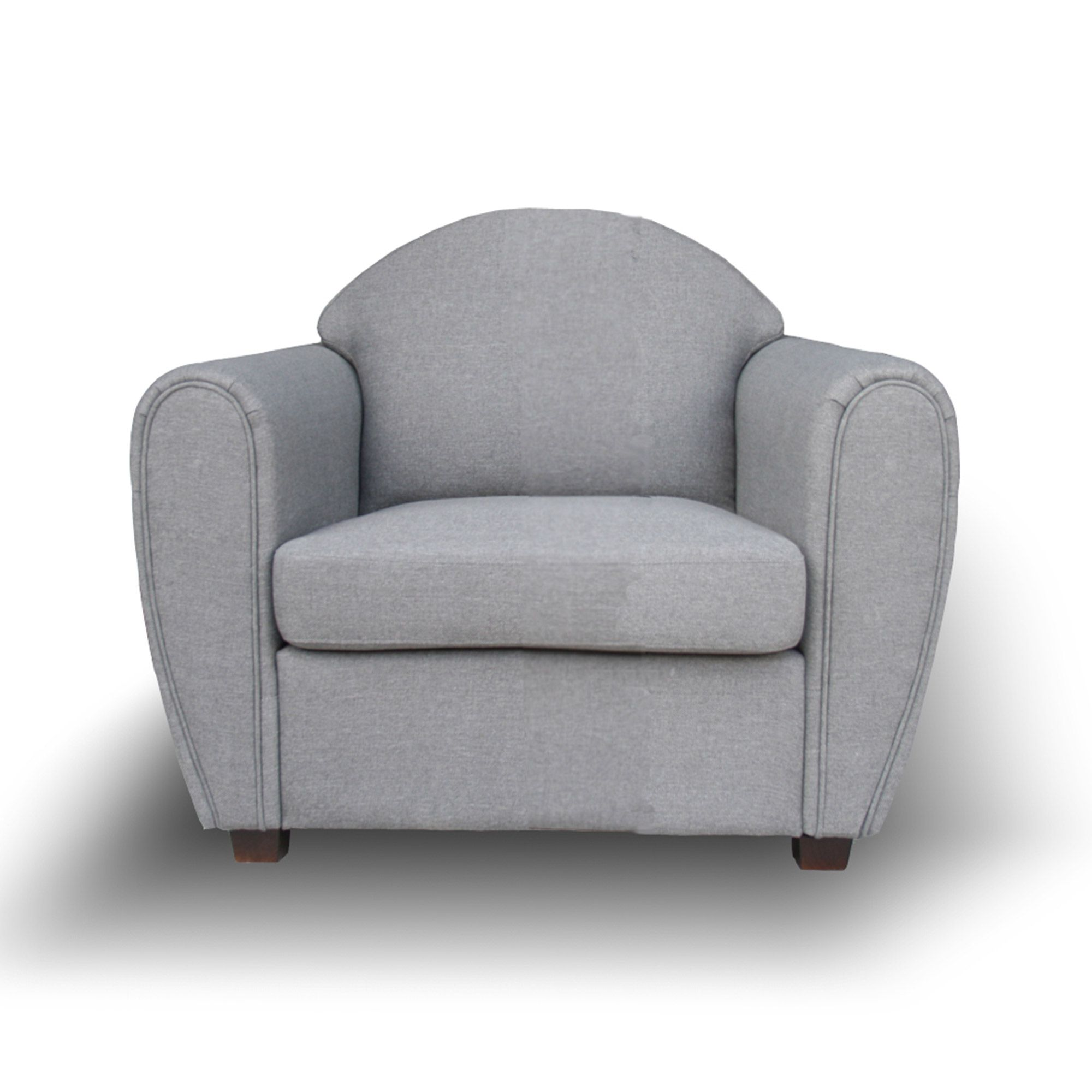fauteuil club tissu gris clair western port offert vente priv e la baraque pinterest. Black Bedroom Furniture Sets. Home Design Ideas