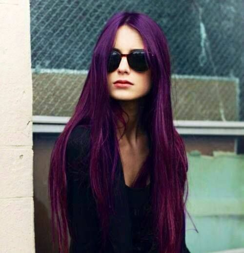 Purple Long Hair Hair In 2018 Pinterest Cheveux Coiffure And