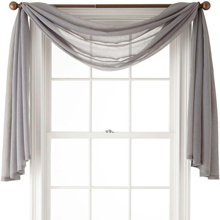 Royal Velvet Crushed Voile Scarf Valance Shopstyle Sheers Scarf Valance Window Scarf Valance #scarf #valances #for #living #room