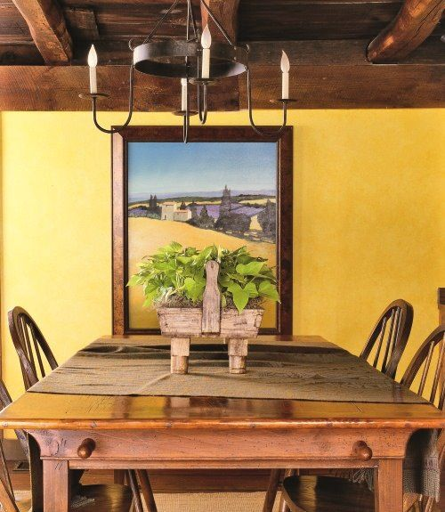 Rustic Country Yellow Dining Room | Home | Pinterest | Yellow dining ...