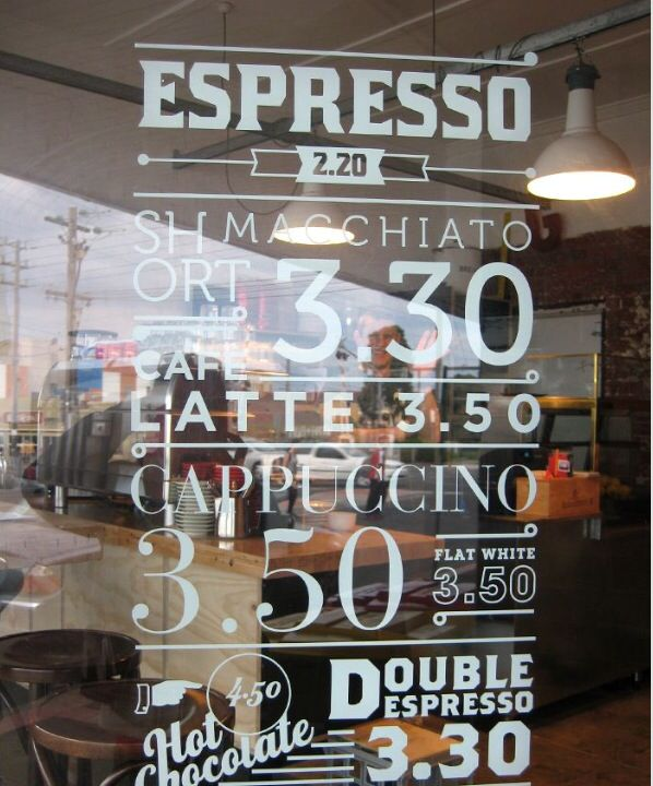 cafe reverse cut vinyl lettering window signage With reverse cut vinyl lettering