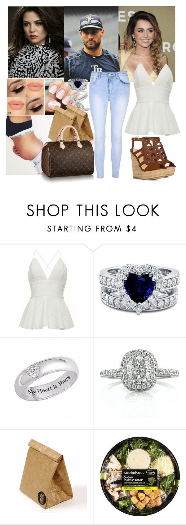 """Surprising Riley and Kevin 💖Carola💖"" by carolalink ❤ liked on Polyvore featuring Cyrus, BERRICLE, Mark Broumand, Luckies, Glamorous and Louis Vuitton"