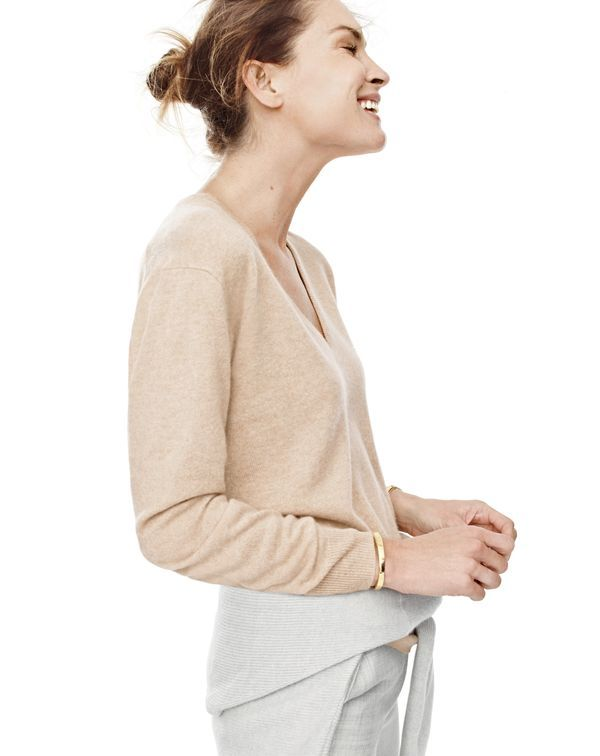 OCT  15 Style Guide  J.Crew women s Collection cashmere boyfriend V-neck  sweater and Campbell trouser. 861b0eabeb