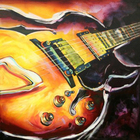1 | Guitars, Music painting and Artsy